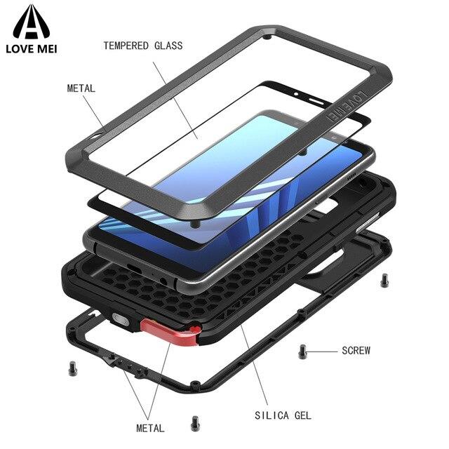 Armadura a prueba de golpes de Metal para Huawei Mate 30 Pro 20 10, funda impermeable de cuerpo entero, funda protectora para Huawei P40 P30 Pro P20 lite