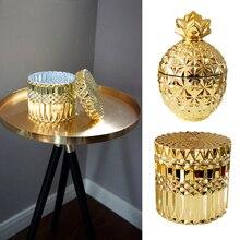 Boîte à bijoux en verre plaqué or   Boîtes décoratives de stockage de bijoux, boîtes à pendentif de bijoux, cadeau de mariage