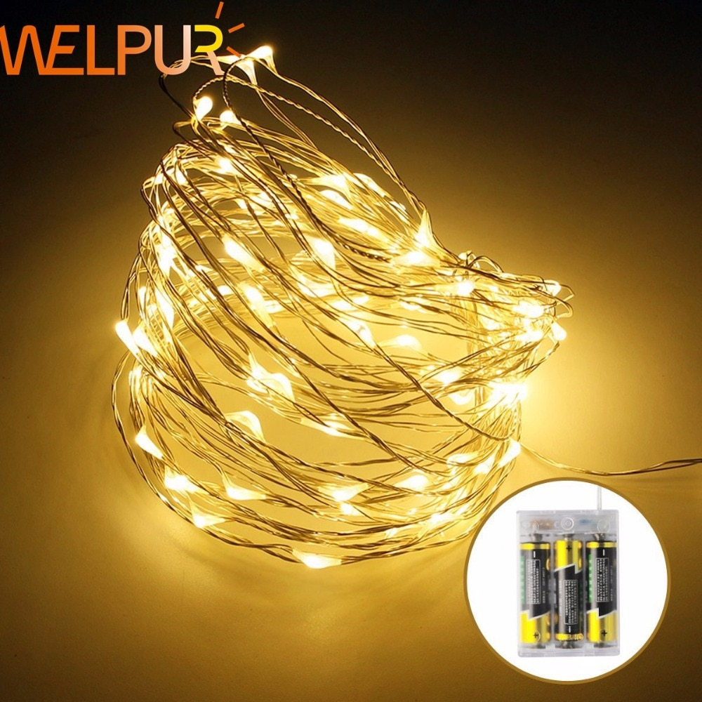 waterproof copper wire fairy garland home christmas wedding party decoration led string light 10m 5m 3m 2m powered by battery led Fairy Holiday Battery Powered LED String Light 2M 5M 10M Copper Wire For DIY Christmas Tree  Wedding Outdoor Decoration