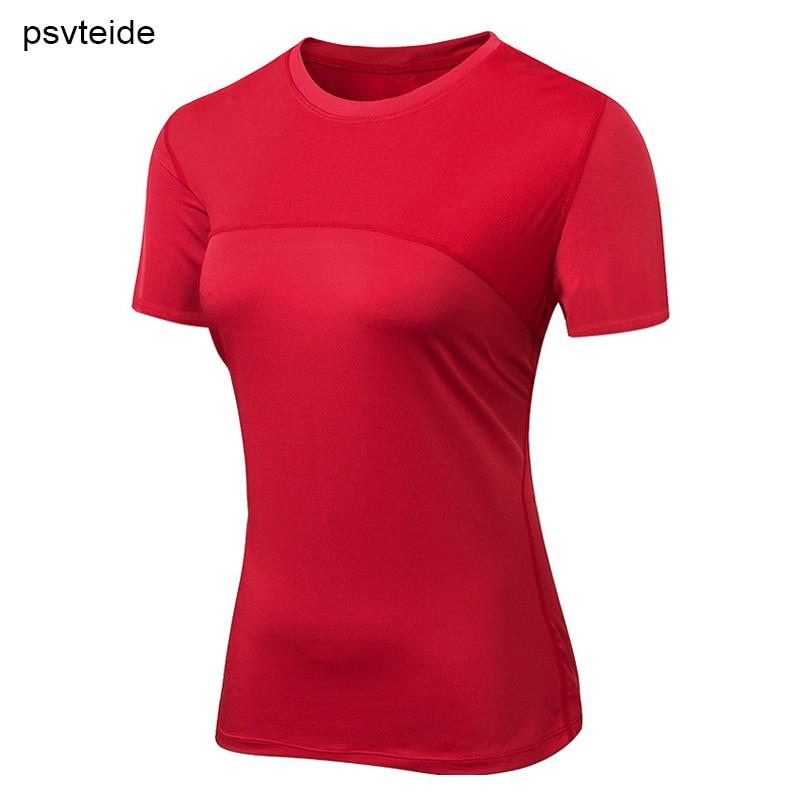 Camiseta de compresión para correr para mujer, camiseta sexi de Yoga para mujer, ropa deportiva para mujer, camisetas de manga corta ejercicio, Camiseta deportiva para gimnasio