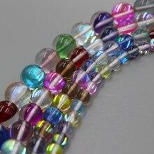 Nowy Colorf Rund Flash matowy ognisty lśniące lśniące światło kryształowe luźne koraliki dla bransoletka naszyjnik DIY tworzenia biżuterii