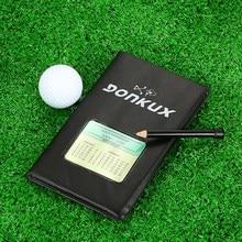 Golf Score Tracking Card Golf Stat Tracker Notebook Score Tracking Card Scorecard Holder with   Pencil