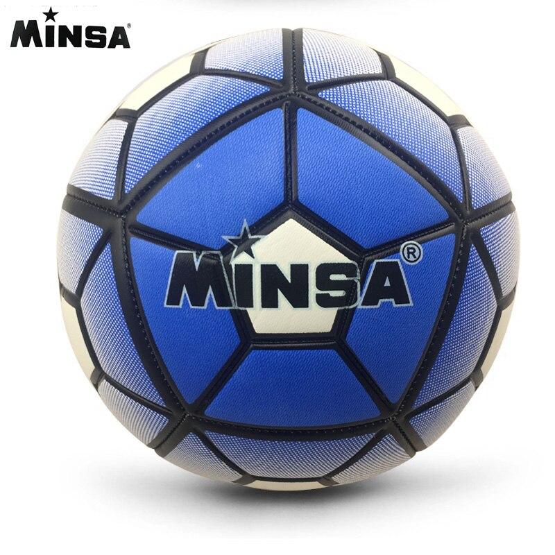 2018 Tamanho da Bola de Futebol Treinamento 5 MINSA Padrão Oficial Jogo Bola De Futebol De Futebol futbol Voetbal Bal