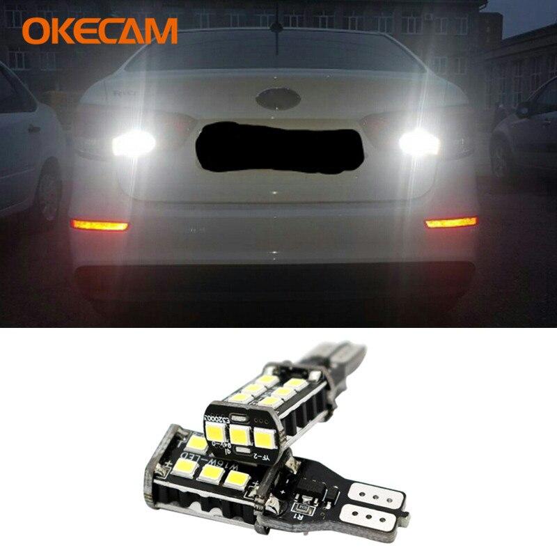2 uds blanco T15 W16W Canbus LED Luz de retroceso de marcha atrás para Kia Rio 3 K3 K2 5 Ceed Sportage Sorento Cerato Optima alma Picanto