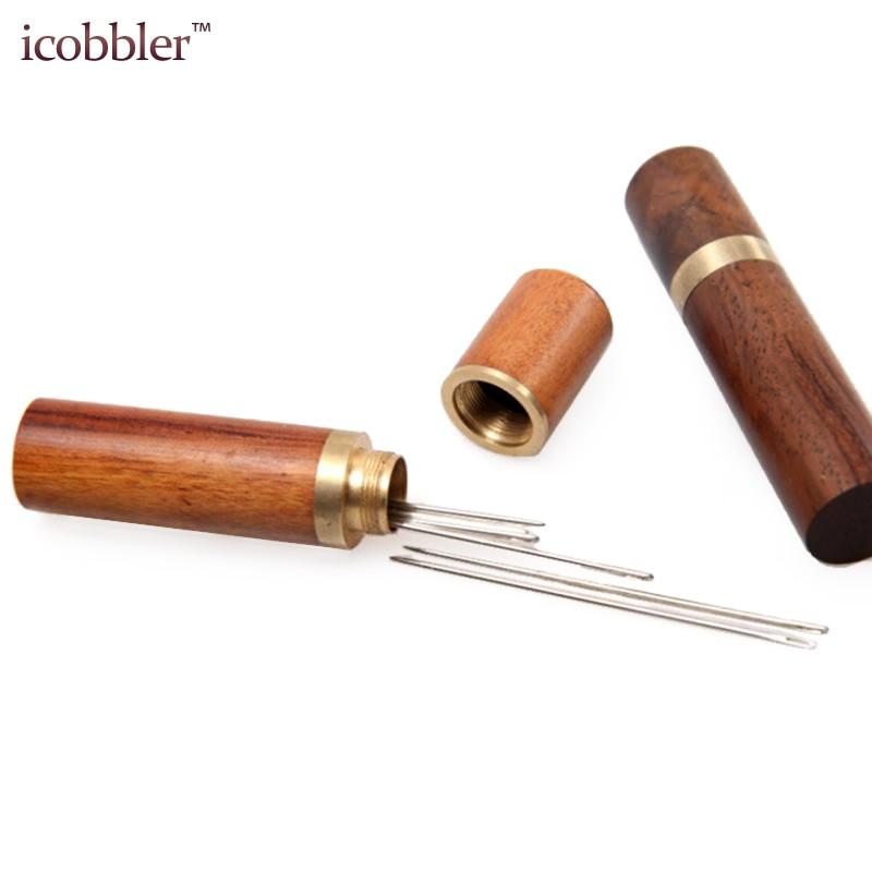 Agujas de coser portátiles, caja de agujas de almacenamiento, Pins de fieltro de madera, herramientas de contenedor para almacenar todo tipo de costura fina y artesanías
