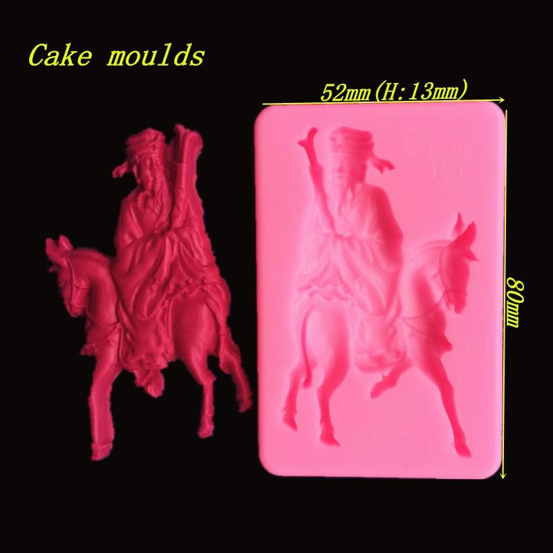 Nueva llegada ocho inmortals Chang, antiguo molde de artesanía de azúcar fondant pastel chocolate decoración molde para hornear