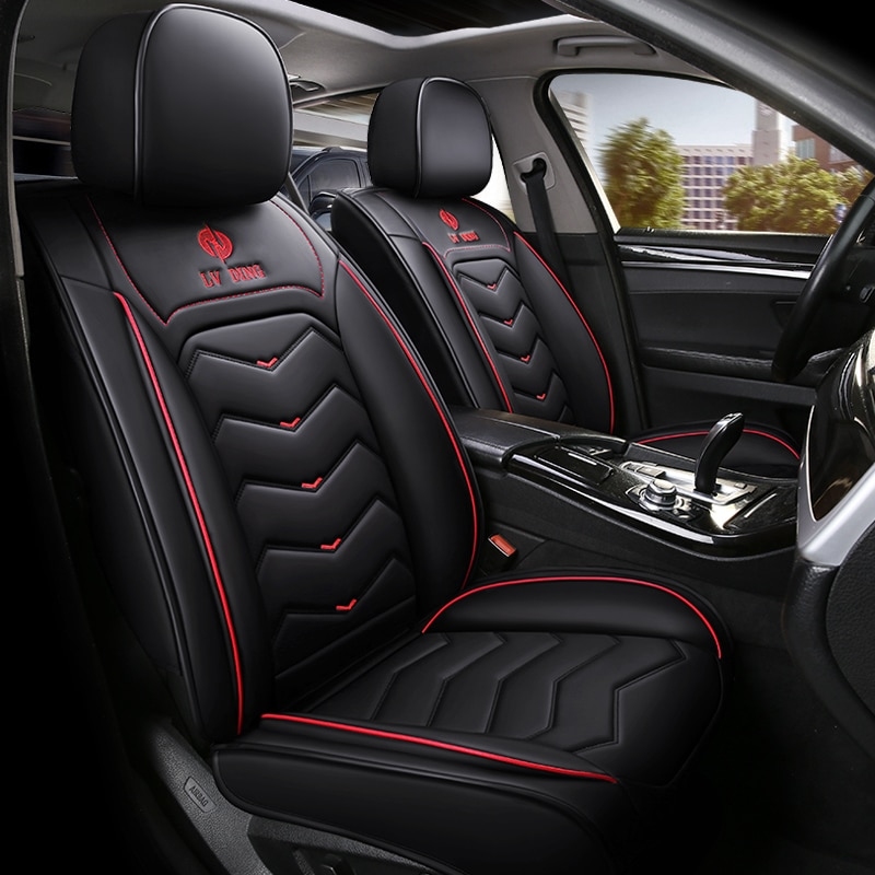 Estilismo Universal para asiento de coche 2019 para Peugeot 206 207 2008 301 307 308sw 3008 408 4008 rcz, cubierta de asiento de coche de alta fibra 508