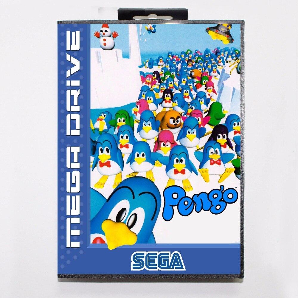 Pengo-tarjeta de juego MD, 16 bits, con caja de venta al por...