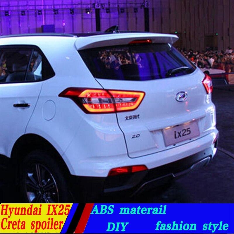 Используется для hyundai IX25/creta спойлер ix25/creta спойлер высокого качества ABS Материал заднее крыло автомобиля праймер цветной спойлер