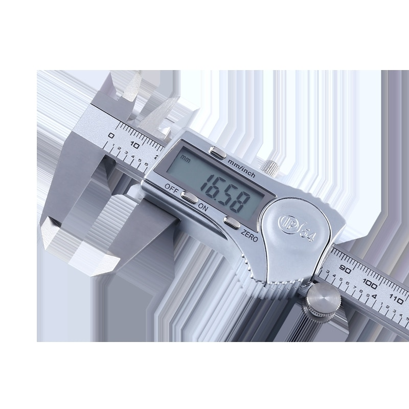 High Precision Vernier Caliper Stainless Steel Caliper Digital Caliper 0-150mm Waterproof Splash ruler