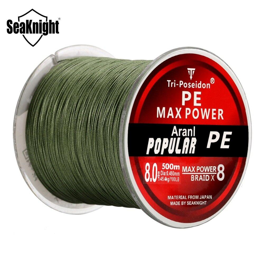 Плетеная леска SeaKnight Tri-Poseidon, 8 нитей, 300 м, 500 м, 1000 м, японская леска из прочного полиэтилена, мультифиламентная леска 20-120 фунтов