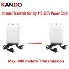 Adaptateur secteur extérieur 12 V 2A transmission réseau par cordon 110-220 V jusquà 600 m PLC DC 12 V transmetteur réseau dalimentation pour cctv