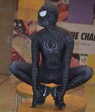 Noir incroyable SpiderMan 2 Costume noir Spider-Man Morph Costume complet du corps TASM 2 Venom Spidey Costume