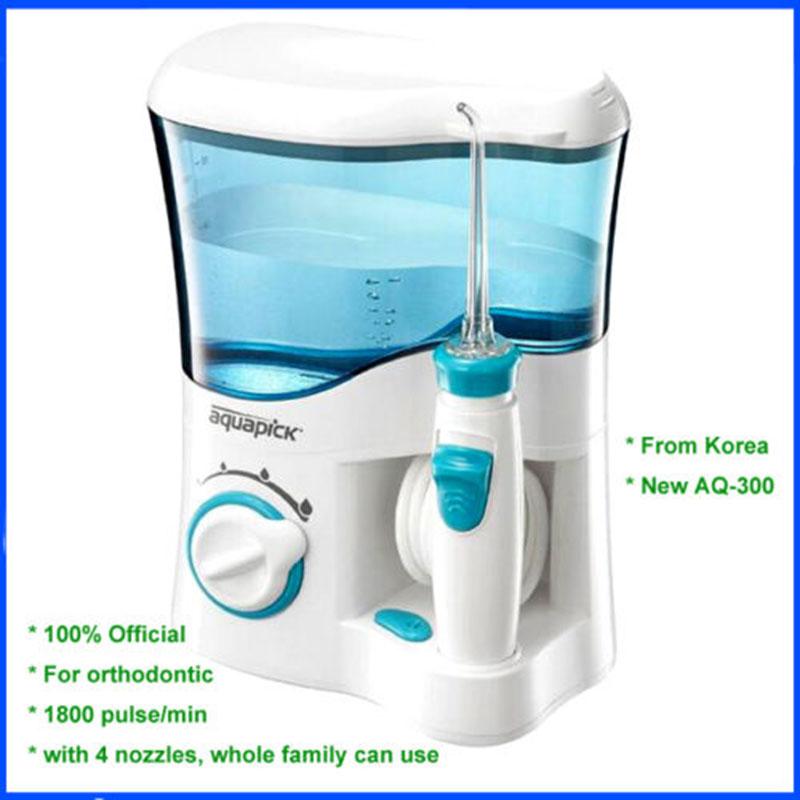 Coreano Aquapick AQ-300 higiene bucal cuidado Dental agua hilo Dental chorro de agua 110 Jet 240V