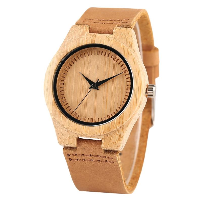 Nature Bangle Wood Wrist Watch Women Simple Bamboo Wooden Quartz Watches Ladies Dress Elegant Hand Around Wood Clock Gift enlarge