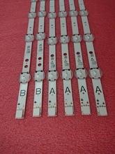 Nouveau original 2 set = 12 pièces 7 LED 460mm LED bande de rétro-éclairage pour Toshiba 49U5766DB VESTEL 49 UHD DRT VNB A B type VES490QNDL-2D-U11