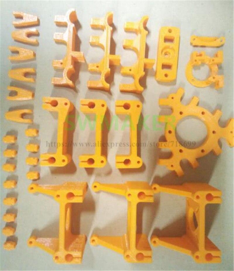 Rostock-أجزاء طابعة بلاستيكية مطبوعة ، مجموعة أجزاء دلتا البلاستيكية لملحقات Delta3D