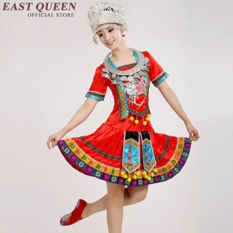 الصينية الشعبية ملابس رقص المرأة الصينية الصيف قصيرة الأكمام الملابس الصينية التقليدية دعوى AA463z