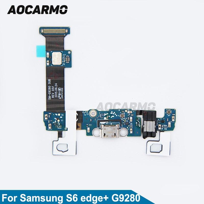 Aocarmo-cargador USB con puerto de carga, Cable flexible para Samsung Galaxy S6...