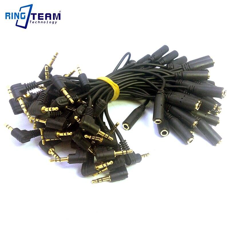 100 unids/lote 15CM de oro audio auriculares estéreo auricular Cable Adaptador convertidor macho de 2,5mm (3 polos) a 3,5mm Jack hembra