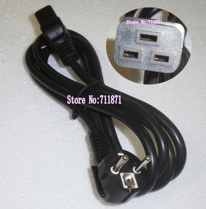 1,8 M UPS servidor Europea cable de alimentación JL301 Europa C19 de línea de alimentación de 16A/250 V cable de alimentación 3 X cable de alimentación cuadrado de 1,5mm