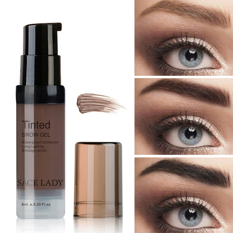 Set de 6 colores de gel de Henna para cejas, tintura impermeable, brocha de maquillaje, crema de tinte para cejas y ojos, maquillaje cosmético