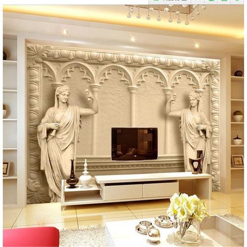 beibehang Customize wallpaper papel de parede European luxury villas 3D TV backdrop 3d  wall paper