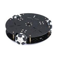 Châssis de voiture de Robot de roue omnidirectionnelle de 58mm pour Arduino châssis de voiture Intelligent omnidirectionnel plate-forme Mobile bricolage voiture intelligente