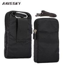 HAISSKY nouveau portefeuille de sport sac de téléphone portable pour Multi téléphone modèle crochet boucle ceinture pochette Holster sac poche en plein air armée housse