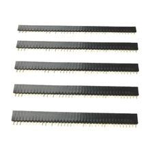 2.54mm Single Row Female 1*40P PCB Board Right angle Pin Header socket Connector Pinheader Plastic 8.5 / 7.1 / 5.7 / 5 / 3.5 mm