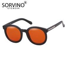 Женские большие овальные солнцезащитные очки SORVINO, черные, оранжевые, зеркальные, зеркальные, SP336, 2020