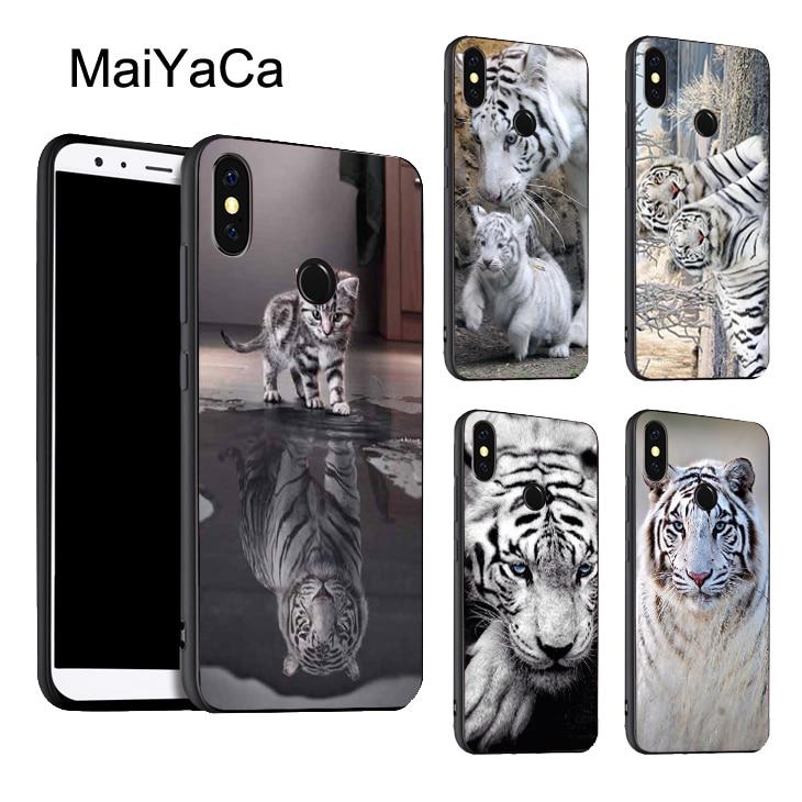 Tigre blanco ANIMAL salvaje de la cubierta del teléfono para Xiaomi Redmi Nota 8 9 K30 Pro 7 T 8 S 7A 8A Mi 9T 9 10 Lite A3 Max3 Mix3