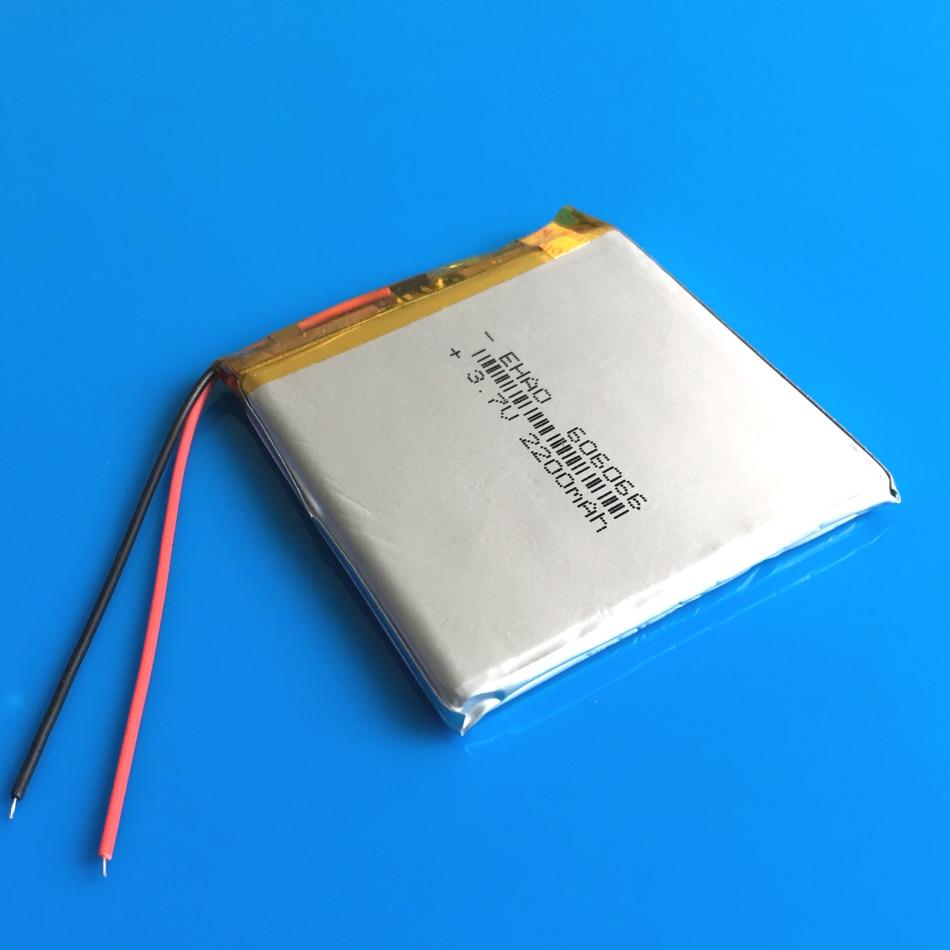 606066 3,7 V 2200mAh аккумуляторная батарея li po полимерный литиевый для GPS DVD power bank Tablet PC PAD PDA Ноутбук камера клавиатура