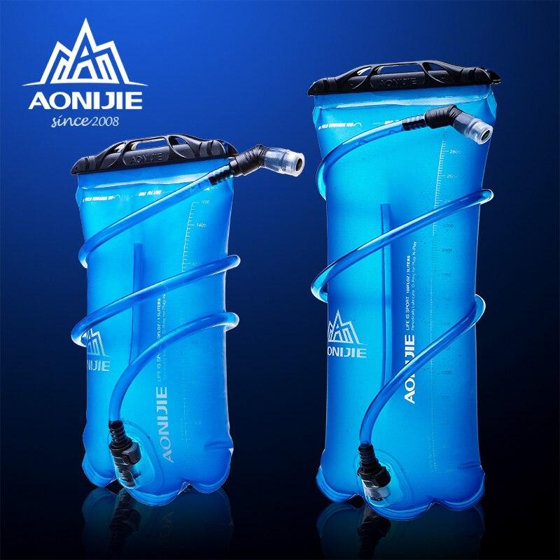 Aonijie Durable plegable bolsa de agua la boca del tubo hidratación bolsa para agua y bebidas ciclismo de 1.5L/2L/3L