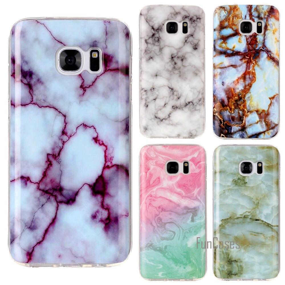 Soft TPU Case For Samsung Galaxy S8 Case Silicone Marble Granite Stone Cover For Samsung Galaxy S6 S6 Edge S7 S7 Edge Case