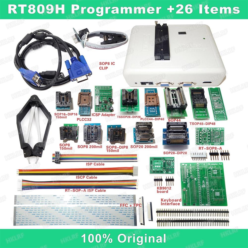 RT809H EMMC-Nand FLASH программатор + 26 итермов с кабелями EMMC-Nand, бесплатная доставка