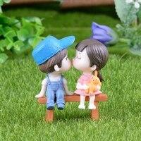 kawaii lover couple wedding doll figurines miniatures fairy garden bonsai resin crafts toys home decoration accessories decor