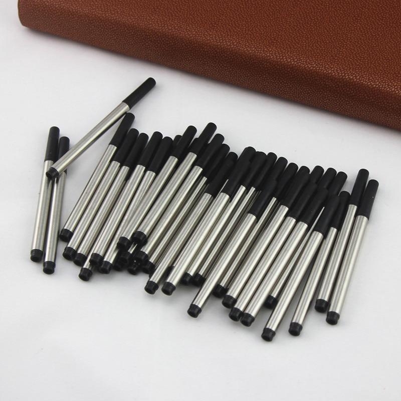10 uds/proporcionar Mini cocodrilo 9cm repuesto de rollerball varilla de Metal tinta negra 0,5mm signo recargas para bolígrafos escuela Oficina suministros