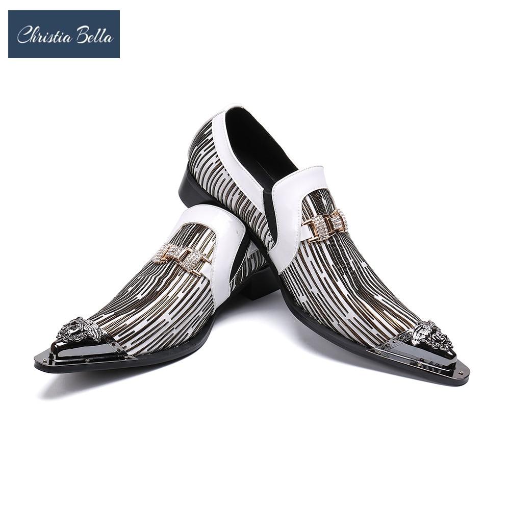 كريستا بيلا-أحذية إيطالية بمقدمة مدببة ، أحذية زفاف ، للعمل ، المكتب ، غير رسمي ، حفلة ، طرف معدني ، أكسفورد