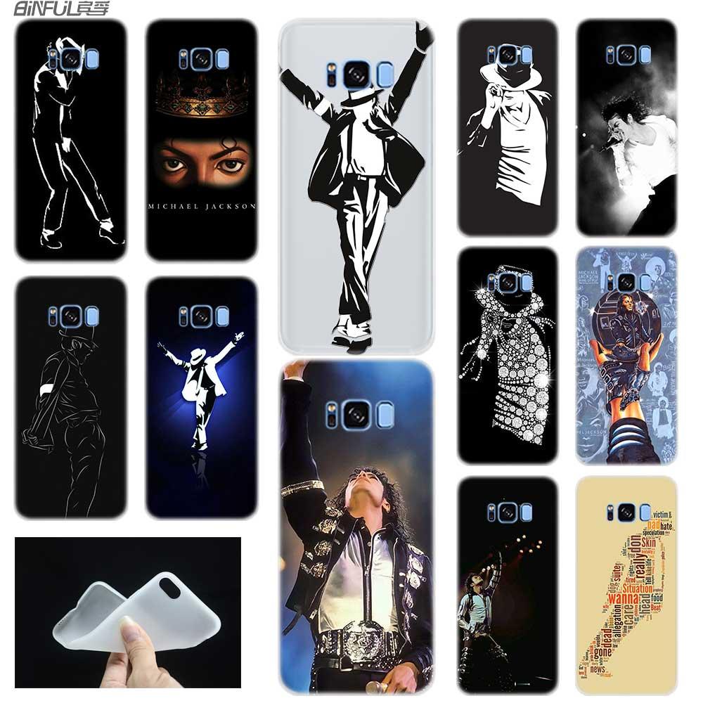Case For Samsung S6 S7 Edge S8 S9 S10 S11 Plus Fundas Coque Soft TPU Back Cover Note 8 9 10 Pro Michael jackson dance Music
