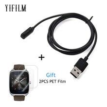 Chargeur de câble de charge magnétique USB plus rapide pour ASUS ZenWatch 2 WI501Q chargeur de montre intelligente USB avec protecteur décran pour Zenwatch