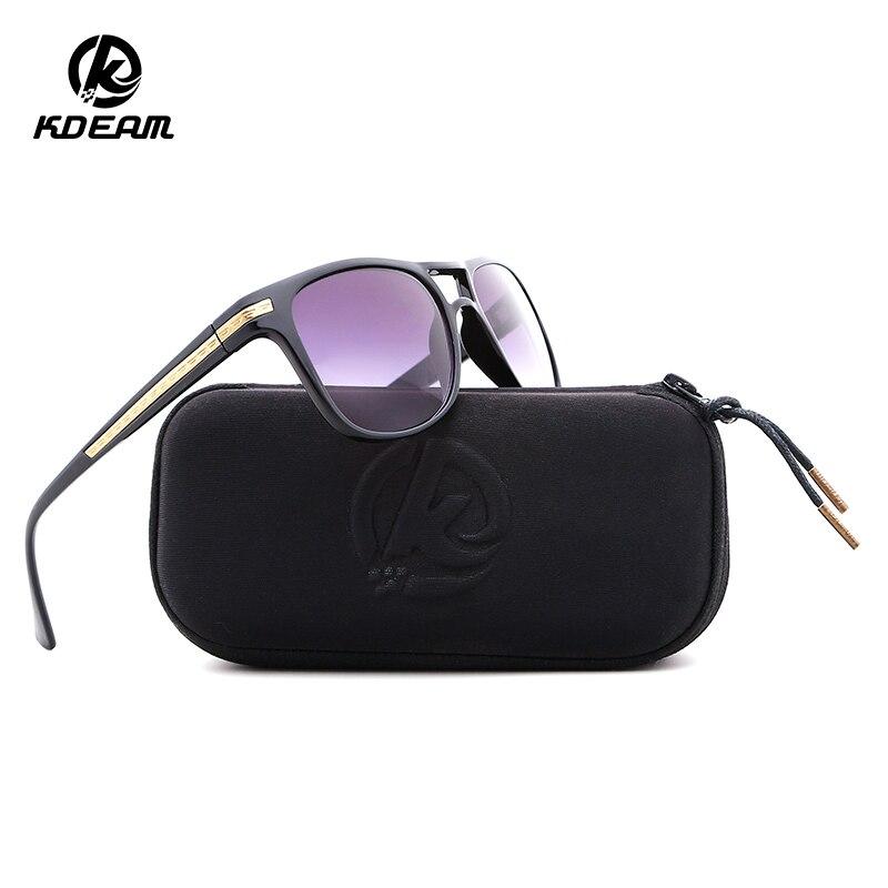 Gafas De Sol KDEAM 2018 para mujer, Gafas De Sol deportivas Polaroid, Gafas De Sol con 3 colores De recubrimiento, Gafas De Sol con estuche KD58812