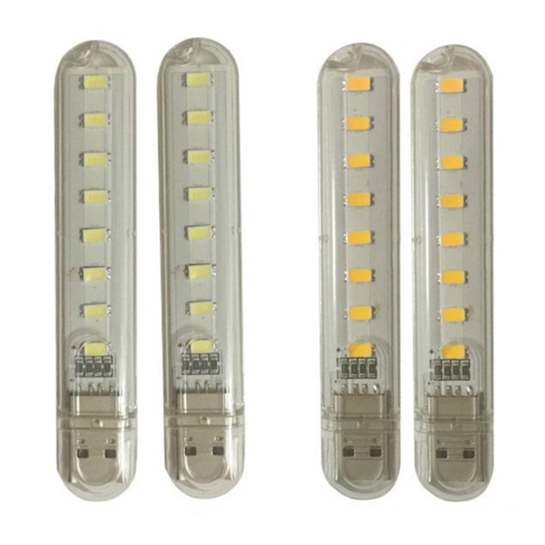 Centechia nouveau Mini veilleuse LED USB 8LEDs 5V ampoule lampe blanche froide pour lecture Gadget portable batterie dalimentation ordinateur portable