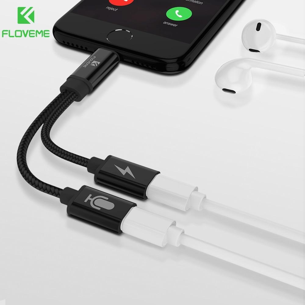 Novedoso Pack de 2 en 1 para Lightning convertidor de Audio para iPhone X 7 8 Plus del divisor del auricular Jack Cable USB adaptador para Apple iOS 11