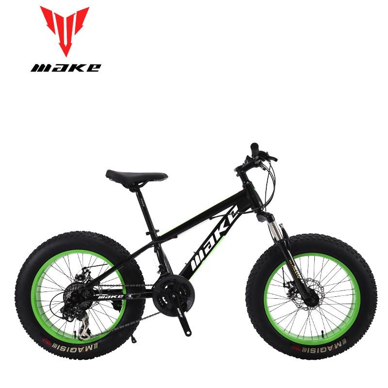 Hacer marco de acero, Fatbike 20 ruedas, 24 velocidades SHIMANO