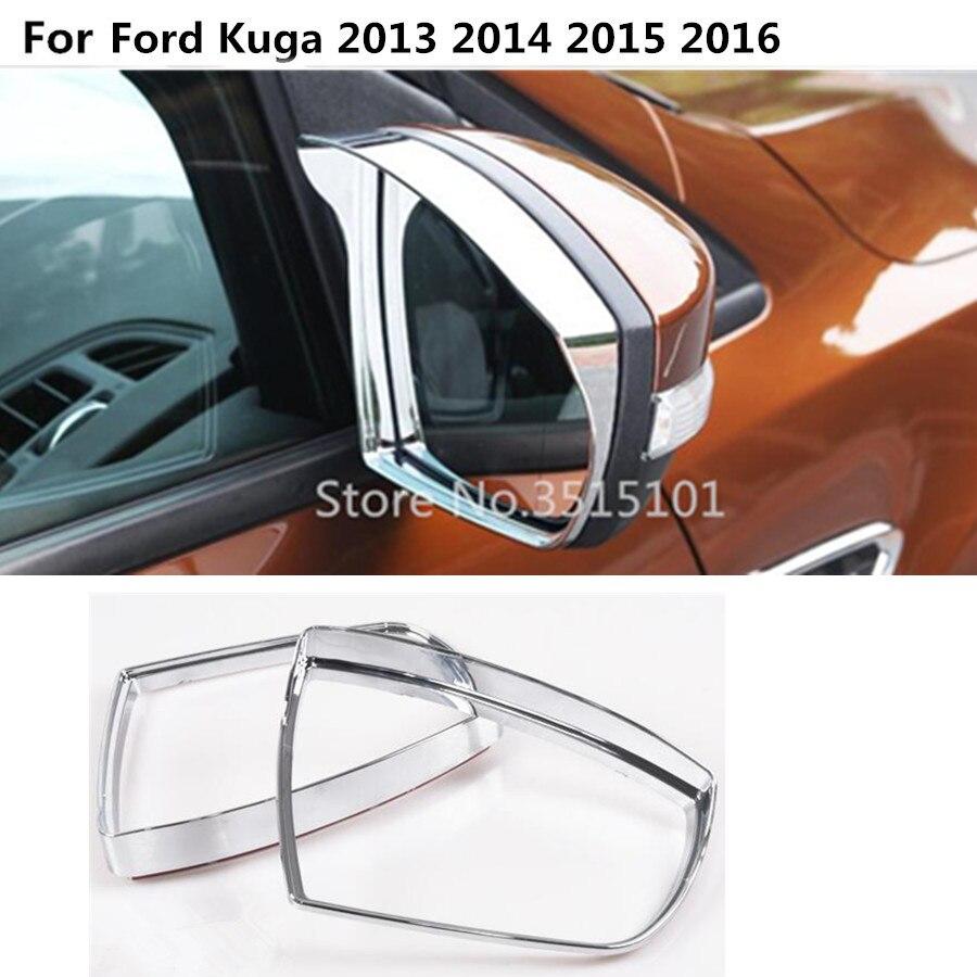Заднее зеркало заднего вида, боковое стекло, рамка, защита от дождя, солнцезащитный козырек, тени, 2 шт. для Ford Kuga 2013 2014 2015 2016