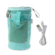 USB Flessenwarmer Heater Geïsoleerde Tas Reizen Cup Portable In Car Kachels Drinken Warme Melk Thermostaat Tas Voor Feed pasgeboren