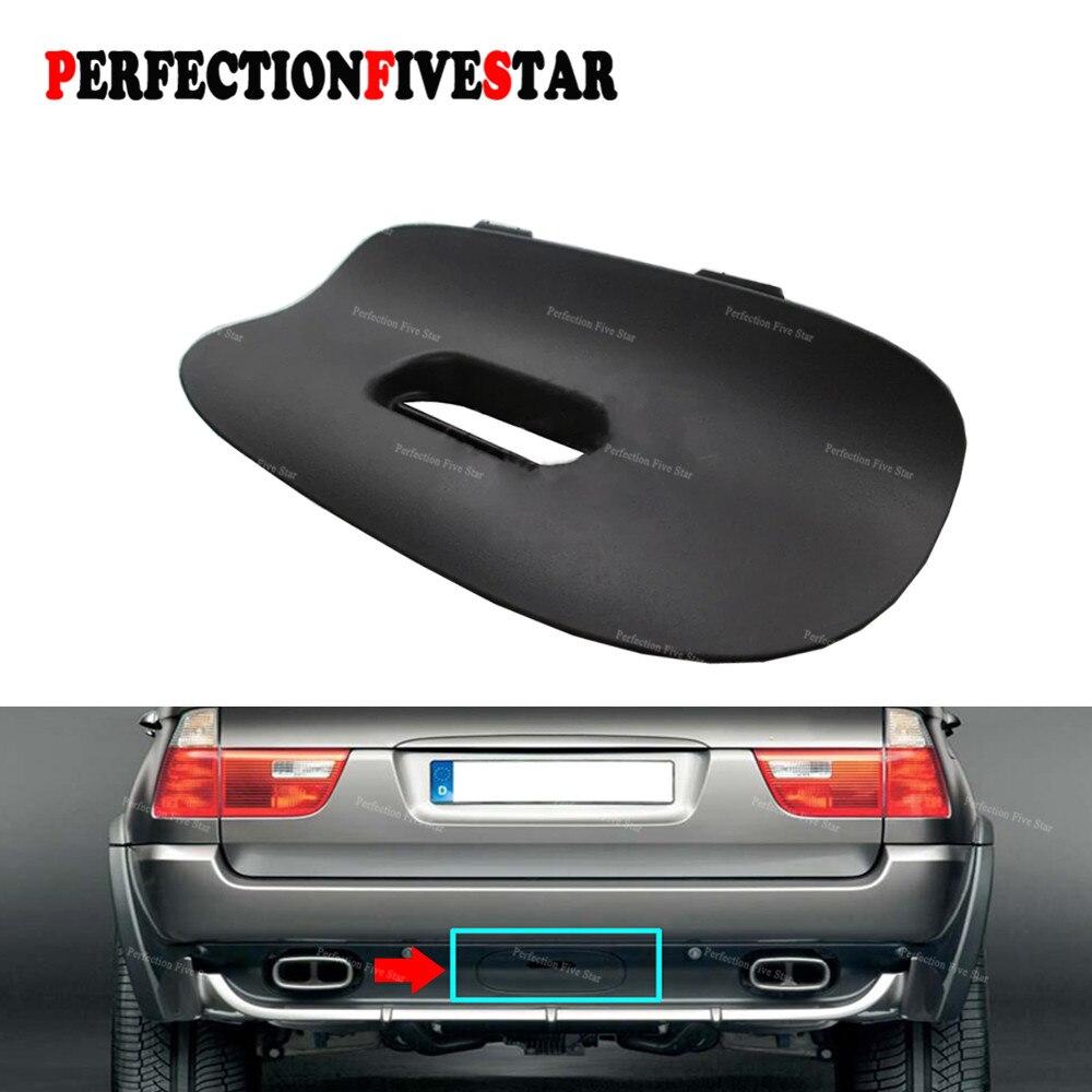 51128402327 для BMW E53 X5 E53 2000-2006 черный Задний бампер буксировочная панель Крышка отделка заслонки прицепа сцепное крепление с отверстием 51 12 8 402 327