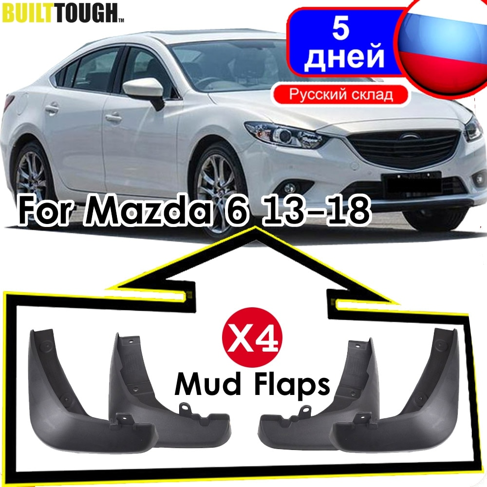 4Pc de coche guardabarros para Mazda 6 (GJ) Atenza 2013-2017, 2018 de 2019 Mudflaps Splash guardias barro guardabarros 2014 de 2015 de 2016