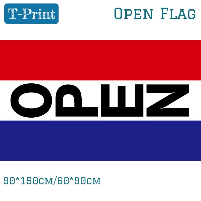 90*150cm 60*90cm 3x5 Ft Vertical Open Business Sign Banner Flag